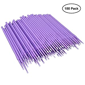 ATLIN Disposable Micro Brush Applicators, 100 Pack of 1.5mm Touch Up Paint Brushes by ATLIN