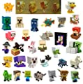 Series 4 Red Minecraft Minifigures Case Set of 36 Mini Figures in Blind Boxes Alex Steve Creeper Horse Ghost Dog Bunny Spider Sheep Cat Zombie Duck Villager Bats Gold