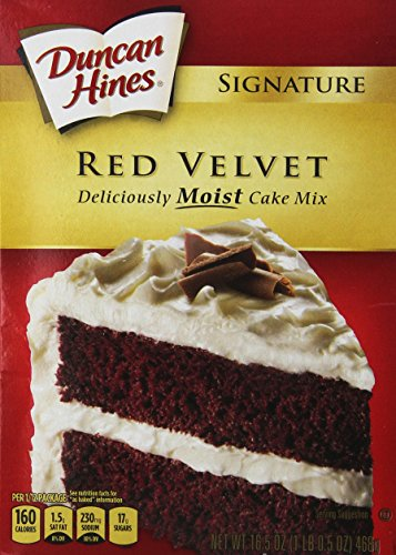 Duncan Hines Signature Red Velvet Cake Mix, 16.5-Ounce Boxes (Pack of 6) by Duncan Hines