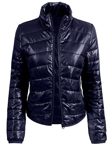 RK RUBY KARAT Womens Casual Fitted Zip up Puffer Jacket by RK RUBY KARAT