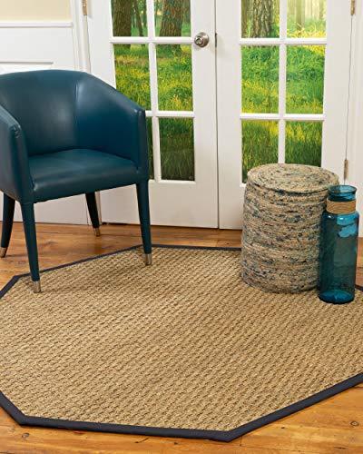 NaturalAreaRugs 100% Natural Fiber Handmade Basketweave, 7