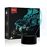 NChance LED Night Lights 3D Illusion Lamp 7 Colors Changing Sleeping Lighting with Touch Button Cute Halloween Gift Warming Birthday Present Creative Decoration Ideal Art and Craft(Forklift Truck)