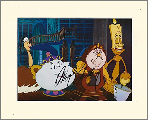 ANGELA LANSBURY BEAUTY AND THE BEAST MRS POTTS SIGNED AUTOGRAPH PRINT IN 10X8 CREAM MOUNT Artomic Autographs