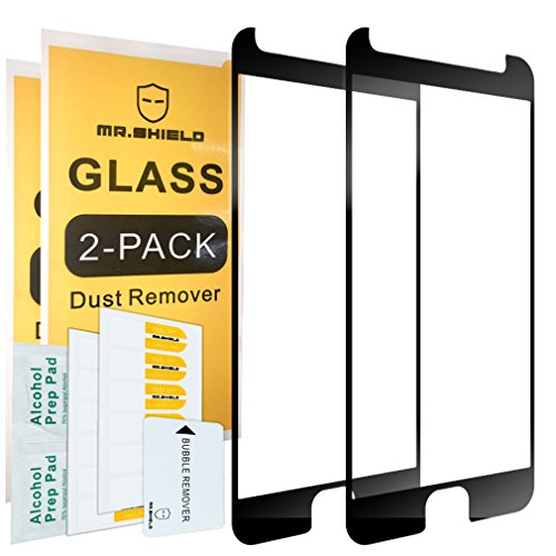 [2-Pack]-Mr Shield for Motorola Moto G5S Plus/Moto G5S+ (Will NOT fit for G5 Plus) [Tempered Glass] [Full Cover] [Black] Screen Protector with Lifetime Replacement Warranty