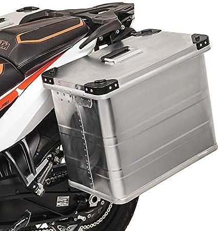 Maleta Lateral Aluminio Bagtecs 45l para Honda CBR 1100 XX, NTV 650 Revere, NX 650 Dominator, Varadero 125/XL 1000 V, VFR 1200 F/750 F/800 F, VFR 750 R