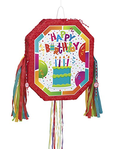 Happy Birthday Pull - Birthday Jamboree Pinata, Pull String