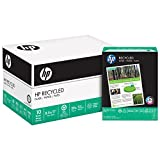 HP Printer Paper, Recycled 30%, 8.5 x 11, Letter, 92 Bright, 5,000 Sheets / 10 Ream Carton (112100C) Made In The USA