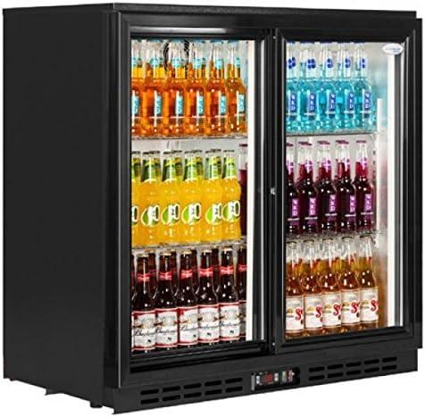 Tefcold - Enfriador de botellas con puerta corredera (210 L ...