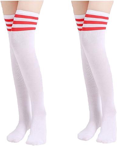 High Elasticity Girl Cotton Knee High Socks Uniform Skull Art Face Women Tube Socks