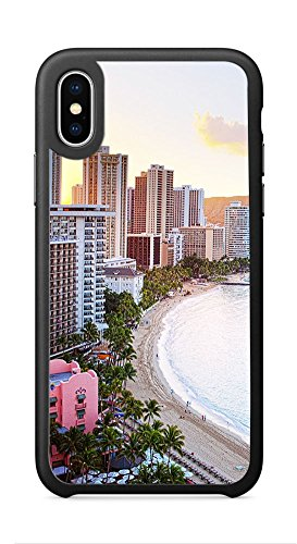 VUTTOO Case for Apple iPhone X 5.8inch - Waikiki Beach Hawaii Case - Shock Absorption Protection Phone Cover (Waikiki Halloween)