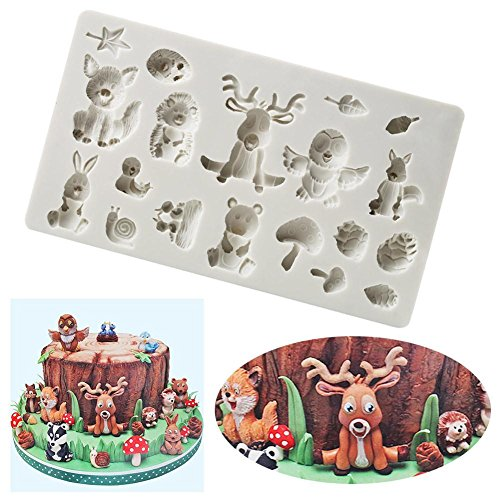 Taloyer 3D Silicone Forest Animals Cake Mold Cupcake Cookies Cutter Mould DIY Baking Decorating Tools by Taloyer