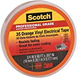 Scotch Vinyl Color Coding Electrical Tape 35, 3/4 in x 66 ft, Orange