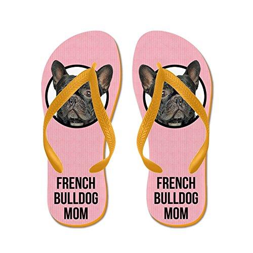 Cafepress French Bulldog Mom - Infradito, Sandali Infradito Divertenti, Sandali Da Spiaggia Arancione