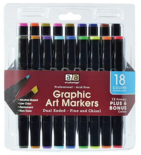 PRO ART REV-MW17Pro Art Marker Set, 18 Colors