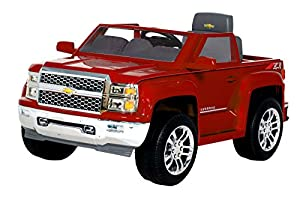 Rollplay Chevy Silverado 6-Volt Battery-Powered Ride, Red