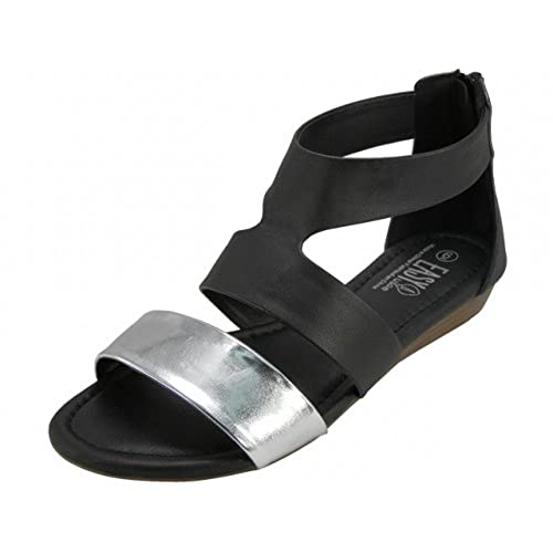 774912005 Wholesale Women s Thong with Metallic Cross Trap Sandals