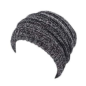 Verpackung//MEHRWEG Leezepro Frauen Beanie Tail Strickm/ütze Damen Unordentlich Hohe Bun Pferdeschwanz Hairband Winter H/üte M/ützen mit Z/öpfen Loch Loop