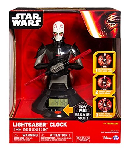 Star Wars The Inquisitor Double Light Saber (SPIN MASTER STAR WARS LIGHT SABER CLOCK)