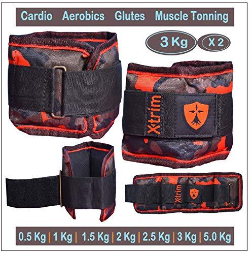 Xtrim Dura-Ankle/Wrist Weights (Set of 2) Iron ore Filling-Comfort Padded -Walking-Jogging-Aerobics-Toning-Cardio-Glutes-Rehabilitation Price & Reviews