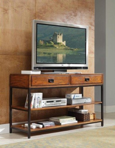Home Style 5050-06 Modern Craftsman Media Console, Distressed Oak -
