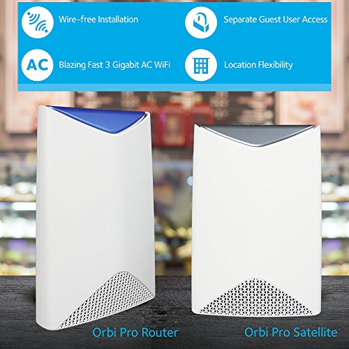 Orbi Pro by NETGEAR - AC3000 Tri-band WiFi System for Business 2-Pack | Covers up to 5,000 sqft | Replaces Access Points | No complicated wiring | Business Traffic & Network Separation (SRK60) by NETGEAR (Image #3)