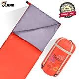 sleeping bag - JBM Sleeping Bag with Compact Bag 4 Seasons Multi Color Blue Green Insulated Waterproof and Repellent Envelope Printed Pattern 0℃/32℉ (0℃/32℉ - Red, Packing Size : 15.3'' x 7.8'' (39x 20 cm))