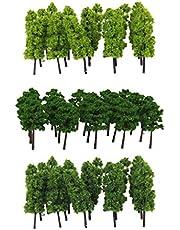 Baoblaze 60 Stks Landscaping Pagode Boom Bomen Model Spoorweg Schaal