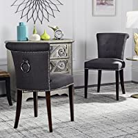 Safavieh Mercer Collection Kyle Side Chairs, Charcoal Grey, Set of 2