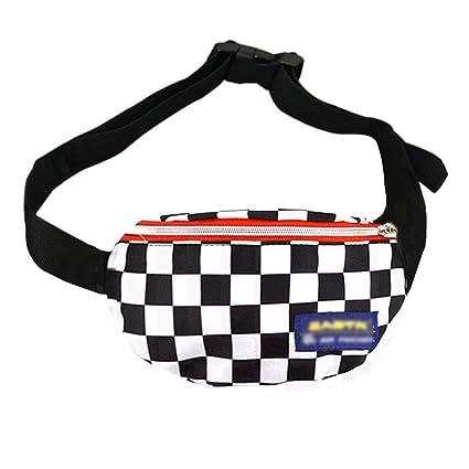 ae38d85296b LABANCA Fashion Fanny Pack Checkerboard Printed Rave Bag Beach Bum Bag  Leisure Waist Bag Cell Phone Purse Bag