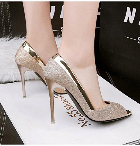 Inception Pro Infinite Infinite Infinite Schuhe - Dekollete für Damen - Goldfarbe - hohe Absätzen - LSJ-166 78a680