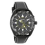 Seiko SUN057 Men's X Prospex Stainless Steel Black Leather Band Black Dial Watch