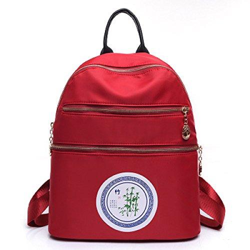 de à imperméabilisent à dos sac Les à plissé léger femmes larme dos d'épaule sac bandoulière Red de multicolore le léger sac nylon portatif IC65fqw