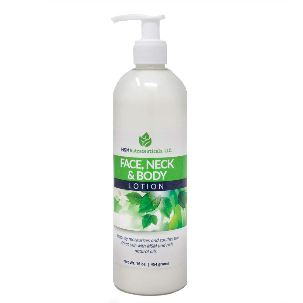Purified OptiMSM in Odor-Free Quick Absorbing Face Neck and Body Lotion 16oz 20% Optimsm Highest Concentration of Any MSM Lotion on The Market by MSM Health Solutions