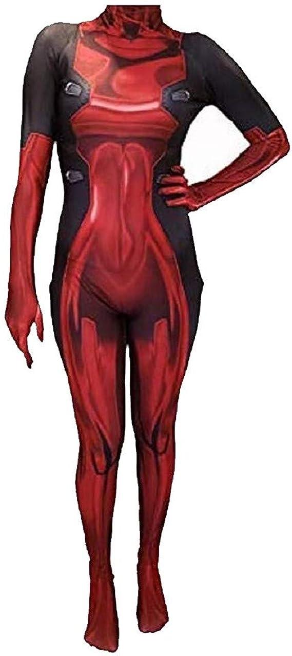 COSPLAY Disfraz del Antihéroe DeadPool Traje ajustado de cuerpo completo con máscara para Mujer (M): Amazon.es: Ropa y accesorios