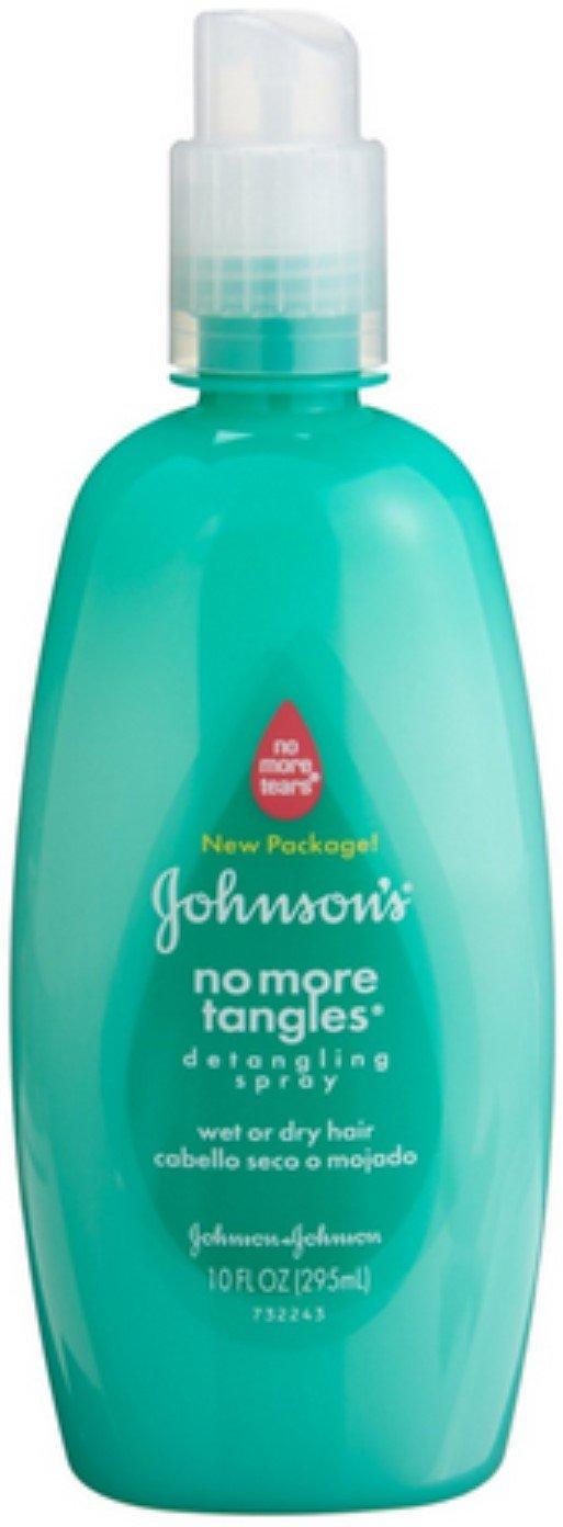 JOHNSON'S No More Tangles Detangling Spray 10 oz (Pack of 4)