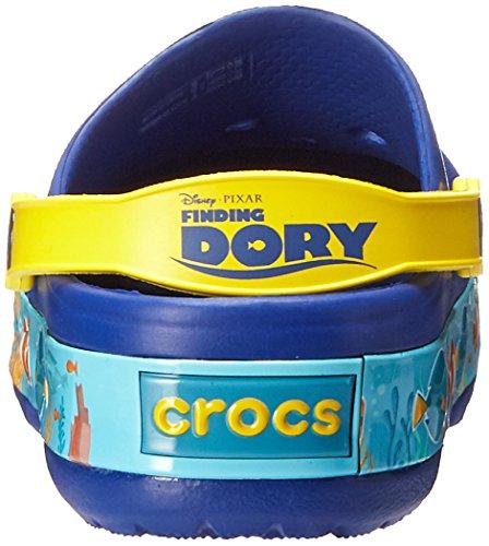 Crocs Kids' Finding Dory Light-Up Clog, Cerulean Blue/Lemon, 11 M US Little Kid by Crocs (Image #2)