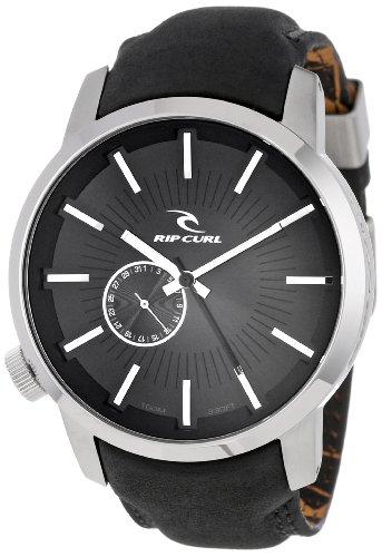 (Rip Curl Men's A2288-BLK Detroit Leather Black Watch )