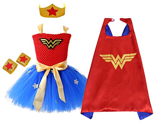 AQTOPS Supergirl Dress Up Costume Small