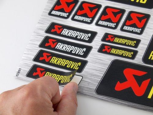 Akrapovic Exhaust Stickers Decals 30x20cm Heat Resistant vinyl with