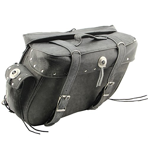 - Xelement BXU9354 Zip-Off Buffalo Grey Saddlebags - One Size