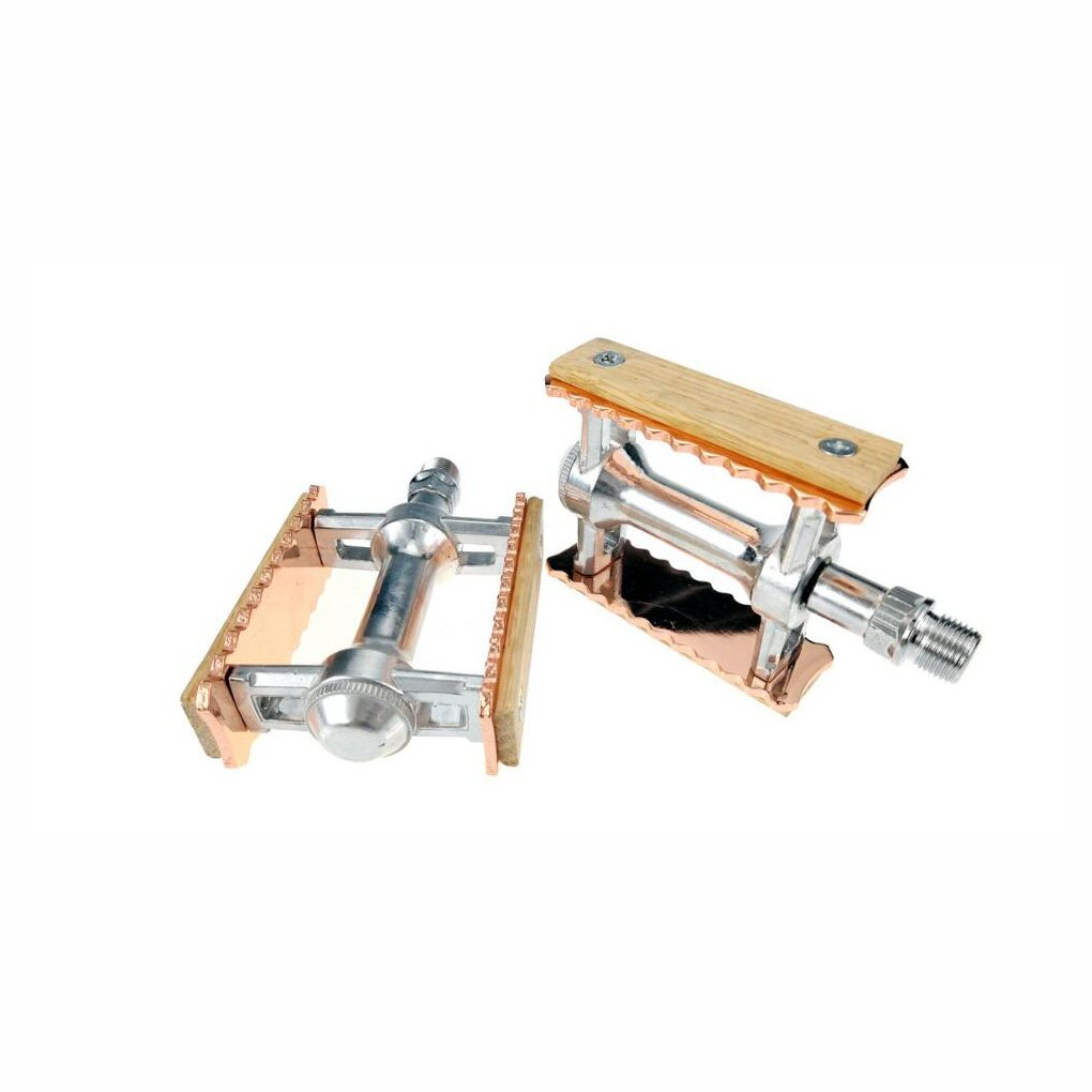 Bicycle Pedals Vintage Wood Pedals Mountain Bike Pedals High-Strength Non-Slip Bicycle Pedals Surface for Road BMX MTB Bikes (1 Pair) (Color : 1) YaXuan