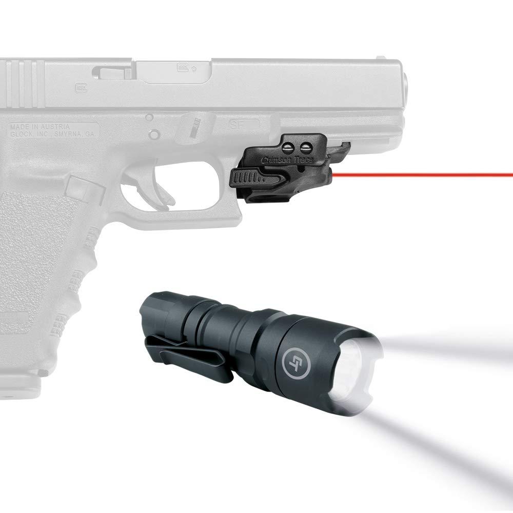 Crimson Trace CMR-201 Rail Master Universal Red Laser Sight with Handheld Flashlight, Bundle by Crimson Trace