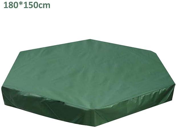 iYoung Cubiertas De Caja De Arena Verde Cubierta De Arenero, Cubierta De Polvo para Jardín Al Aire Libre, con Cubierta Impermeable Resistente A Los Rayos UV para Piscina: Amazon.es: Hogar