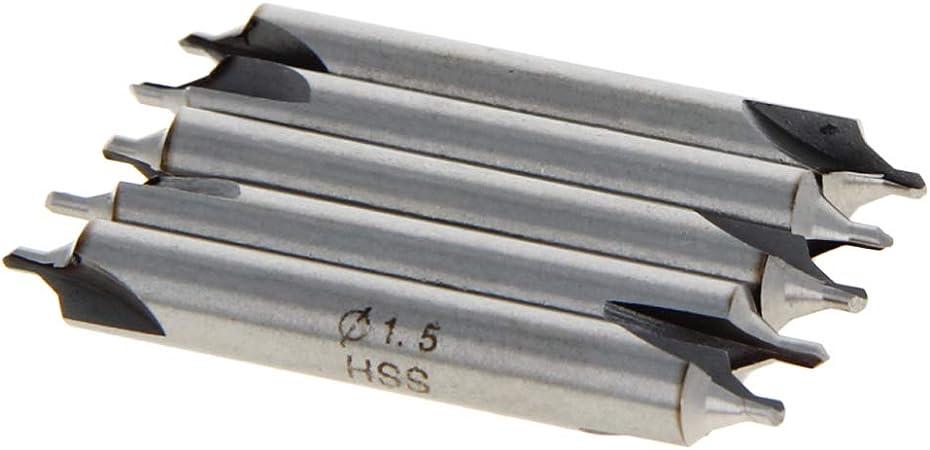 1.5mm Tip Diameter HSS Center Spotting Drill Bit Countersinks 10Pcs