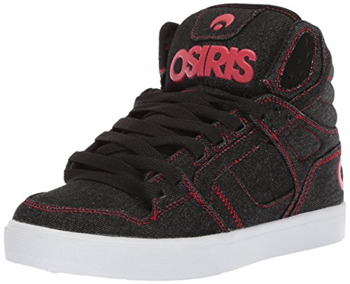 Osiris Women's Clone Skate Shoe, Black/White/Red, 7 M US