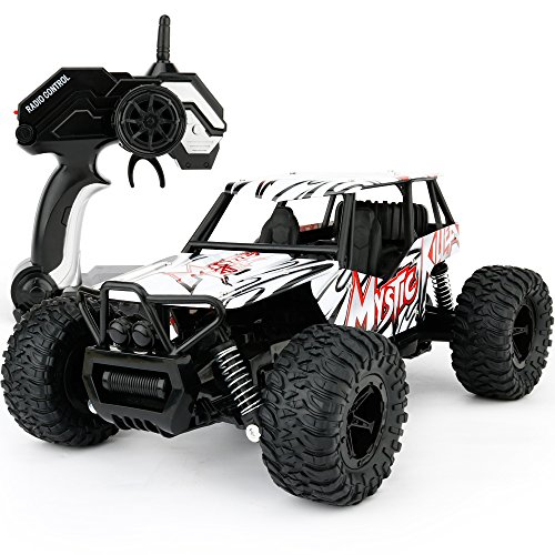 SONiKi Remote Control Car RC Cars 1/16 Scale Electric Remote Control Off Road Monster RC Truck 2.4GHz 2WD High Speed Radio Control Car-Best Toys for Kids and Adult(Red)
