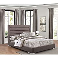 Fabriana Upholstered Platform Bed in Grey - California King
