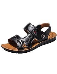 cnWay Men's Sandal Shoes Fisherman Sandal PU Leather Skid Breathable Casual Sandals