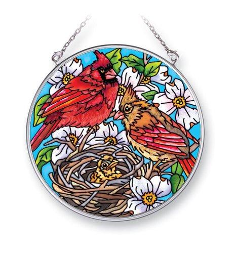 Amia 41417 Cardinal's Nest 4-1/2-Inch Circle Sun Catcher, Medium Cardinal Nest