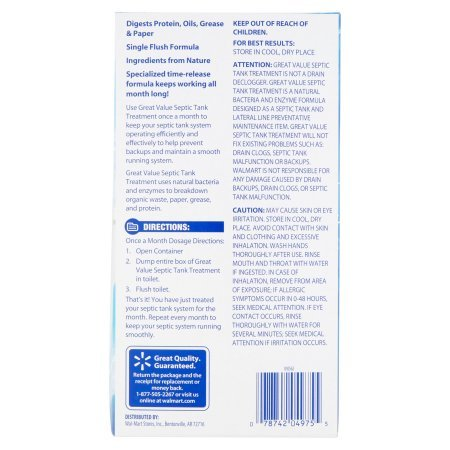 Septic System Treatment, 9.8 oz (Pack of 3) by Great Value (Image #5)
